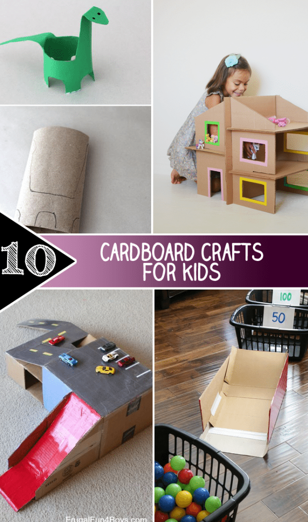 10 Cardboard crafts for kids