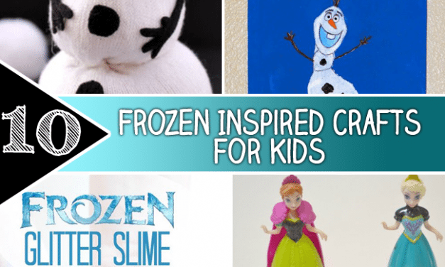 10 Frozen Inspired crafts for Kids