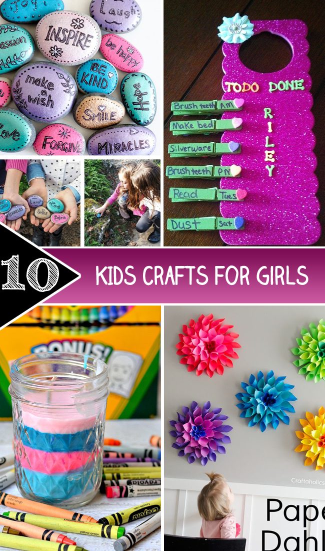 10 Kids Crafts for Girls copy