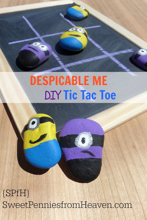 Despicable Me DIY Tic Tac Toe Game
