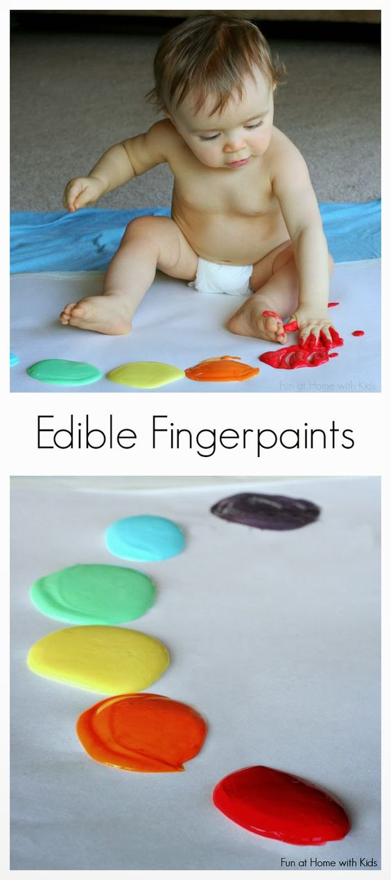Scented Edible No-Cook Fingerpaint