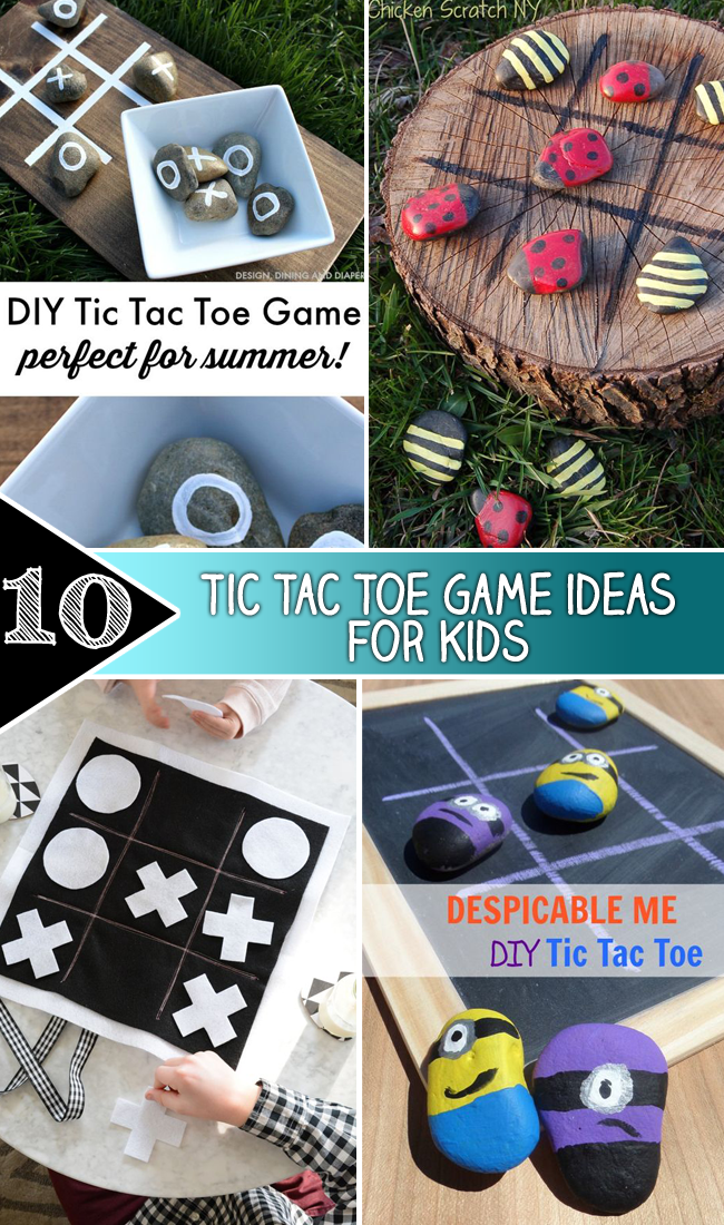 10 Tic Tac Toe Game ideas for Kids