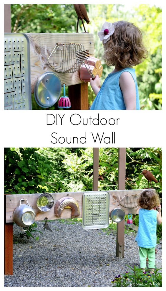 DIY Outdoor Sound Wall/Music Station