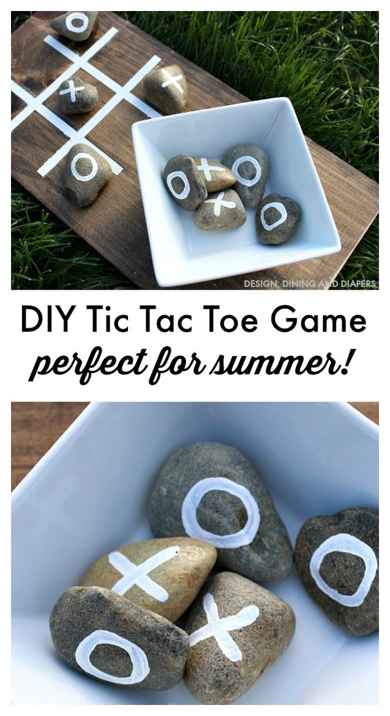 DIY Summer Tic Tac Toe Game